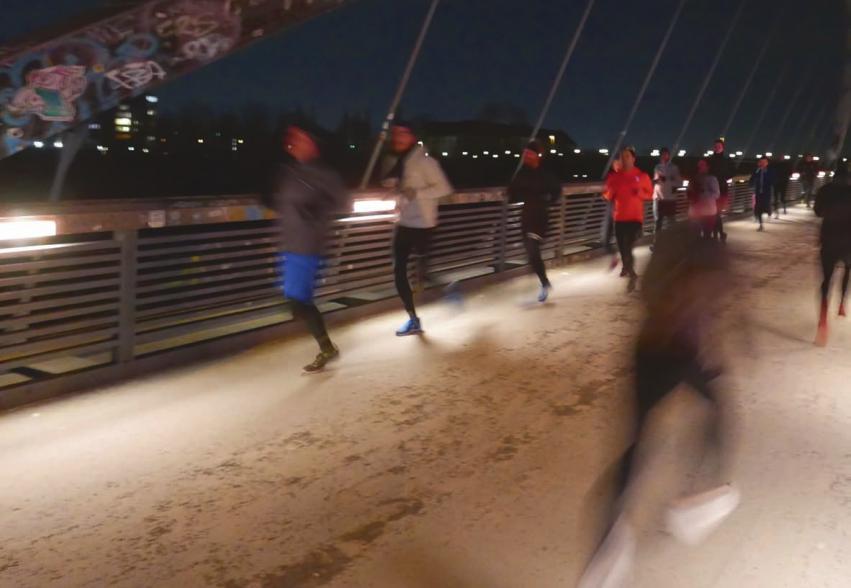 Ob im Winter oder Sommer: Der Schwedter Steg ist das Stadion der Kraft Runners